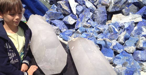 Concurrida edición de la cita anual con las gemas y minerales en la localidad francesa de Saint Marie Aux Mines