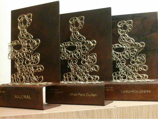Anna Juan fue la encargada de diseñar y materializar los Premios JORGC