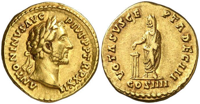 Una historia de Roma y numismática: Antonino Pío