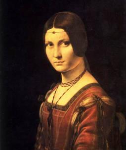 El óleo conocido como La belle ferronière, atribuido a Leonardo da Vinci.