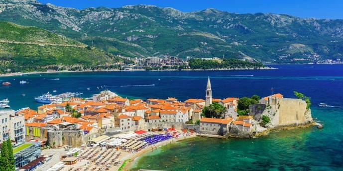 La localidad costera de Budva, en Montenegro.