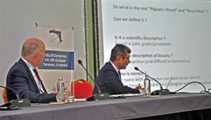 Los  responsables de la Comisión de Gemología y de Piedras de Color de CIBJO, durante el Congreso.