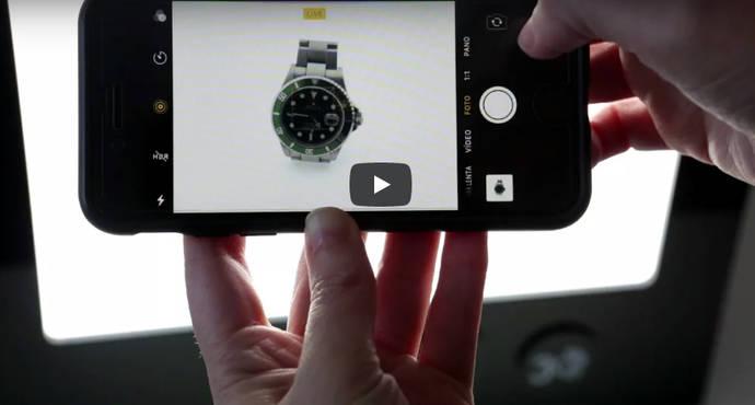 Nueva caja de luz para la fotografía de joyas, gemas y relojes