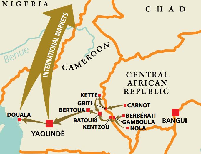 Camerún, el coladero para los diamantes de conflicto africanos
