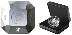 Una moneda de colección en forma de diamante se agota en horas