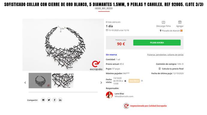 Subasta para profesionales de la joyería: Más de 87.000 piezas desde 1 euro