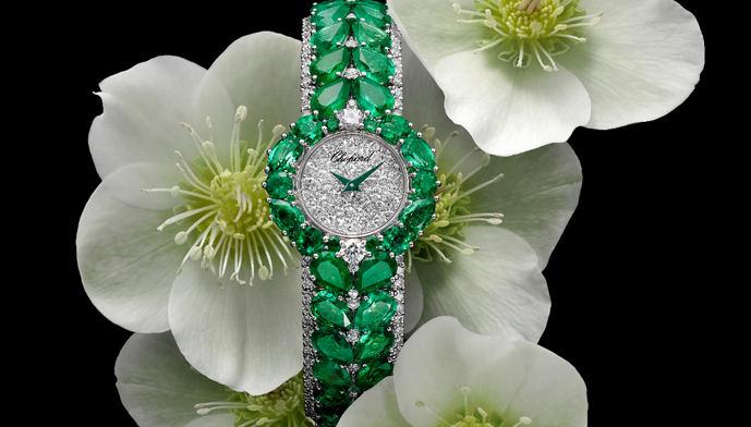 Chopard apuesta por las esmeraldas y el oro fairmined en su nuevo reloj joya
