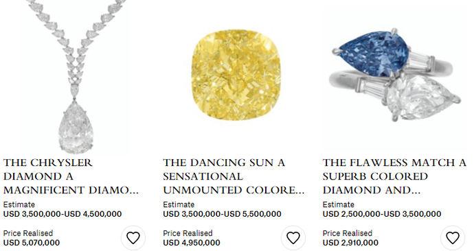 El diamante Chrysler gana la patida en subasta al Dancing Sun