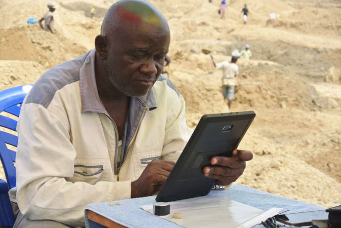 Tecnología punta para la minería artesanal de diamantes