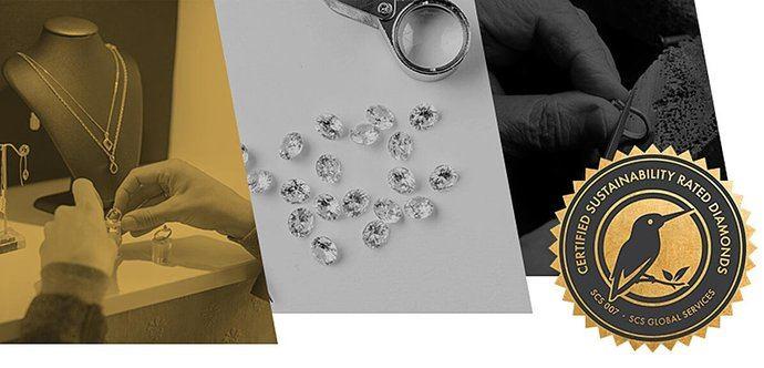 Diamantes con clasificación de sostenibilidad