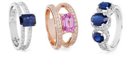 Eugenio Lumbreras muestra sus zafiros azul y rosa