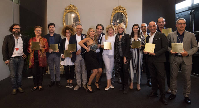 Galardonados en la pasada edición de los premios joyeros de Oro Arezzo.
