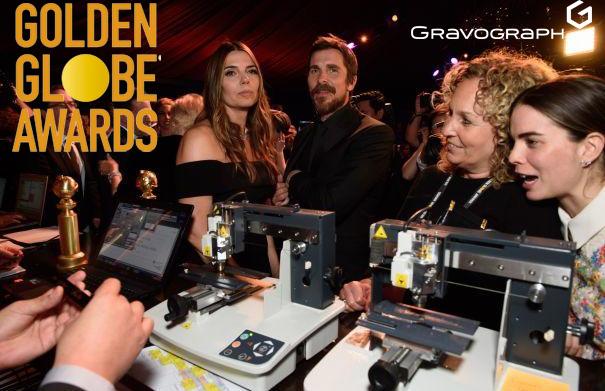 Las máquinas de grabado de Gravograph, protagonistas en los Globos de Oro