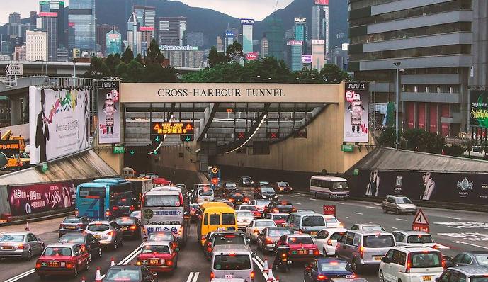 Uno de los pasos fronterizos entre Hong Kong y la región china de Shenzen.
