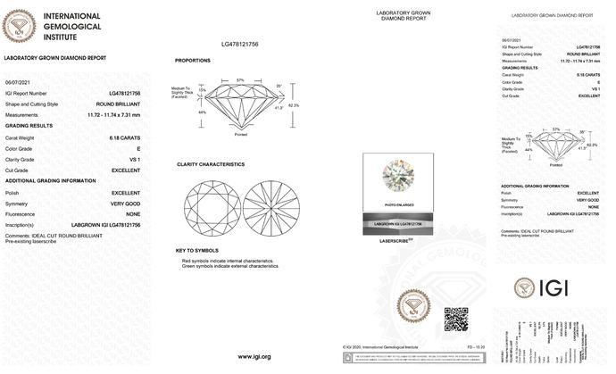 El IGI detecta un gran diamante sintético con certificado duplicado de GIA