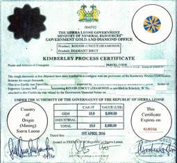 El falso certificado remitido a Hong Kong.
