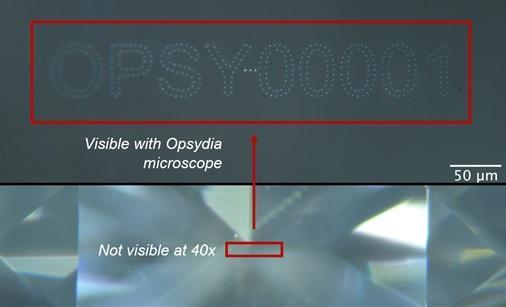 Una inscripción láser que no afecta a la claridad
