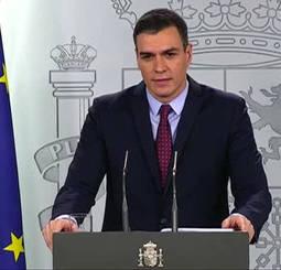 Pedro Sánchez compareció ayer por la tarde para anunciar las medidas para el retorno a la normalidad.
