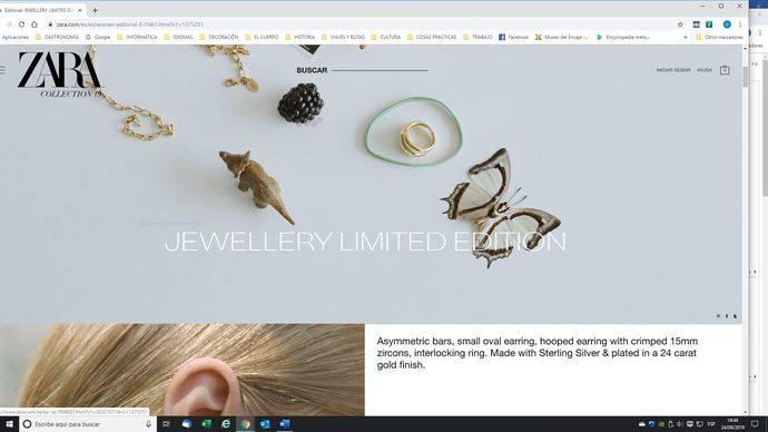 Victoria de la AEJPR: Zara elimina de su publicidad Joyería en Oro