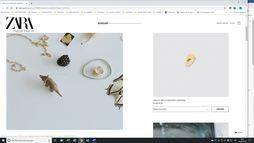 Otra imagen de la rectificación de la joyería en la web de Zara, donde ya no se anuncia de forma destacada el oro.