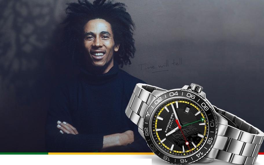 Bob Marley cobra vida en las agujas de Raymond Weil