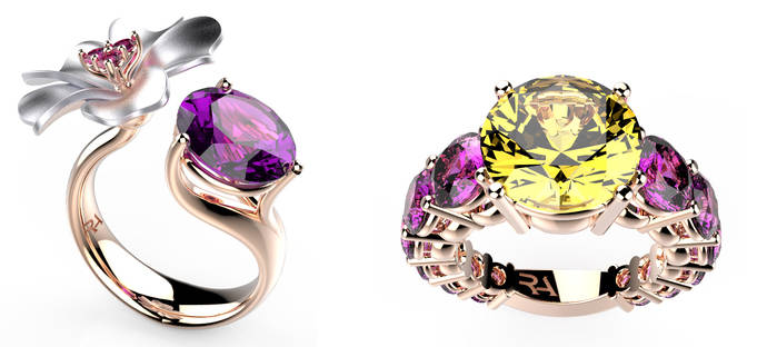 Formas florales en la nueva colección de alta joyería de Roberto Axpe