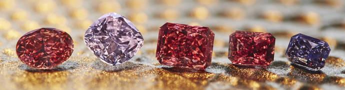 Cinco diamantes de color únicos, a subasta