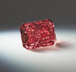 El Argyle Everglow, un diamante fancy red único, de 2,11 quilates.