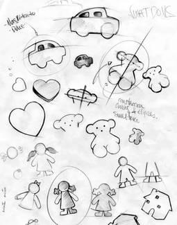 Boceto colección Sweet Dolls. 1994. Fondo Joyería TOUS, S.A.