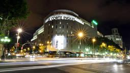 El centro de El Corte Inglés en la Plaza de Catalunya.