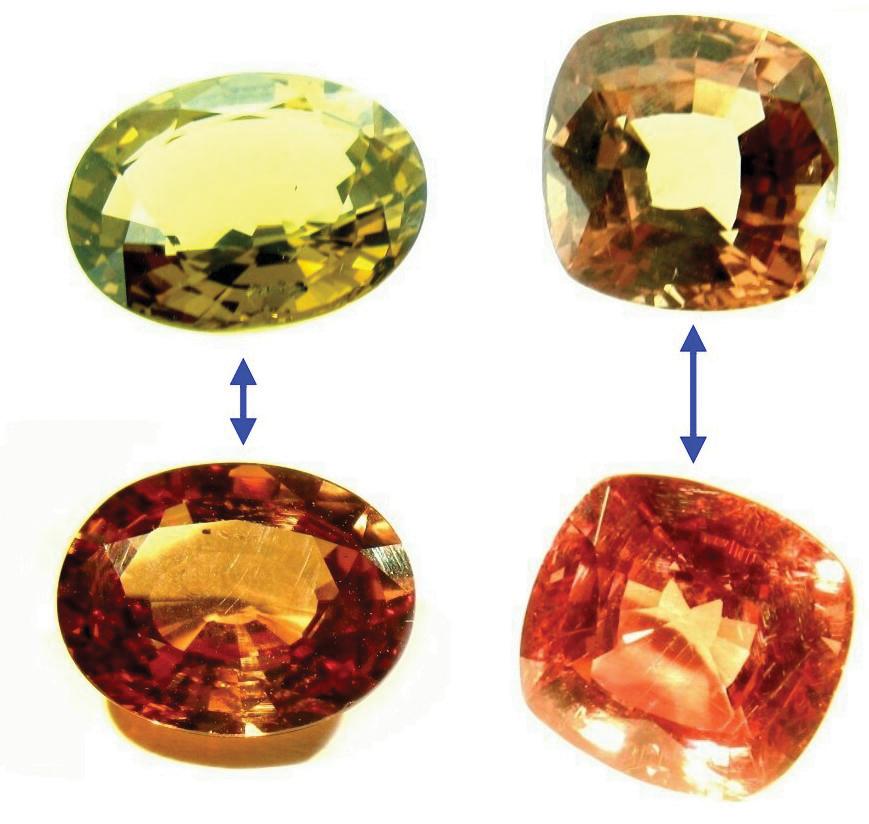 El <em>efecto alejandrita</em> y las gemas que cambian de color