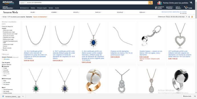 Las ventas de joyería en Amazon alcanzan los mejores datos de su historia