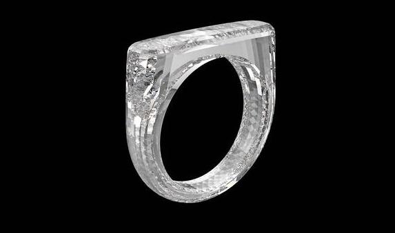 Sotheby's subasta un anillo tallado de un diamante… que aún no está hecho
