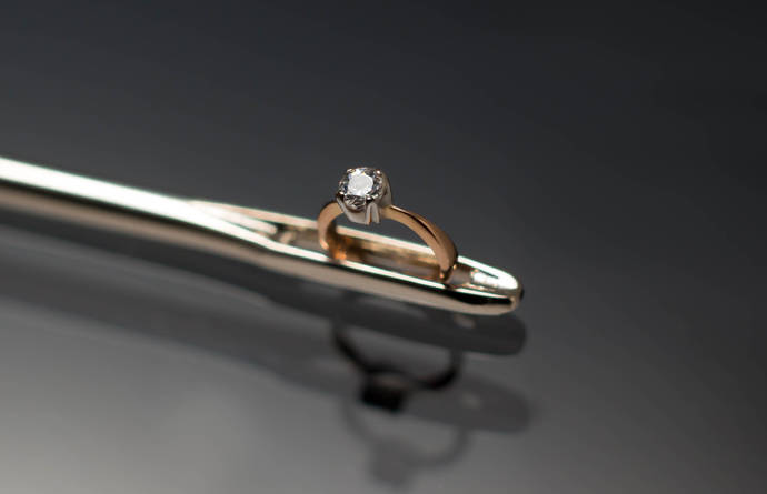 Presentan el anillo más pequeño del mundo