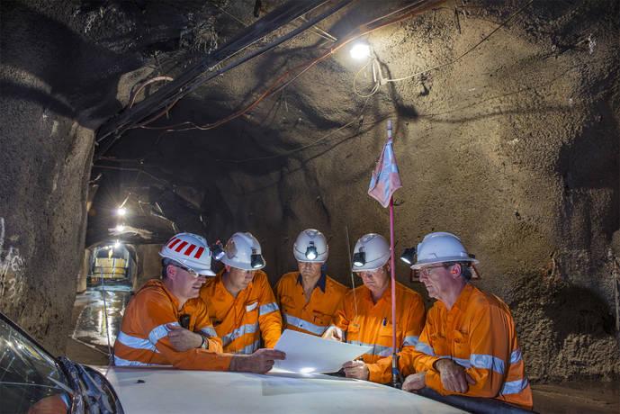 Interior de la mina Argyle, situada al noroeste de Australia.
