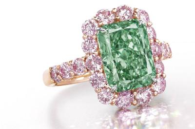 El diamante 'Aurora Green' se vendió por 17 millones pero no superó expectativas