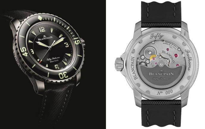 Blancpain lanza su reloj estrella para buceo en titanio