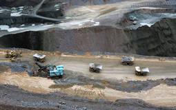 Una de las explotaciones mineras en Botswana, en el sur de África.