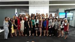 Grupo fundador de Mujeres Brillantes el año pasado en Panamá.