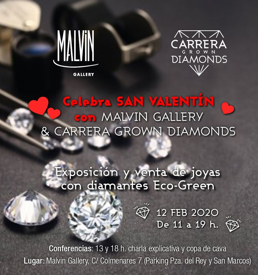 Carrera Grown Diamonds expone en la galería Malvin