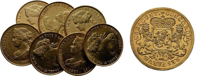 Monedas y billetes históricos, a subasta