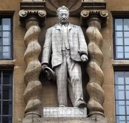 La estatua de Cecil Rhodes en la Universidad de Oxford.