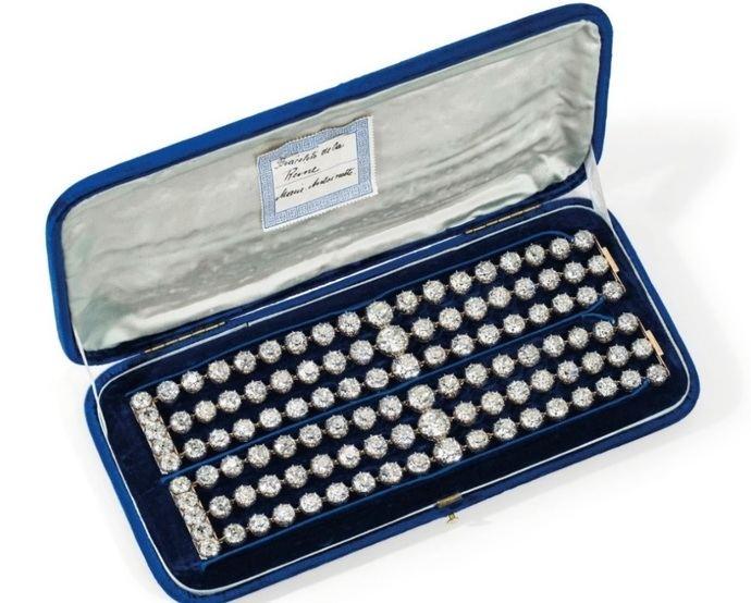 Diamantes de la reina María Antonieta a la venta en Ginebra