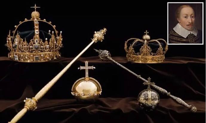 Recuperan en la basura dos coronas reales suecas