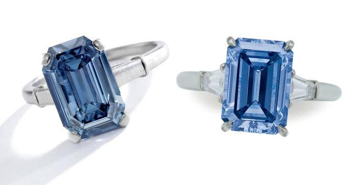 Buena salud para los diamantes azules en las subastas internacionales