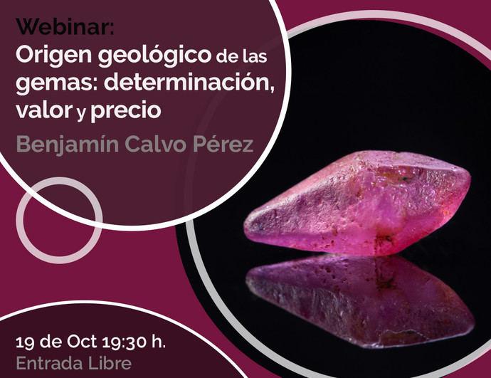 Conferencia del IGE: 'Origen geológico de las gemas: determinación, valor y precio'