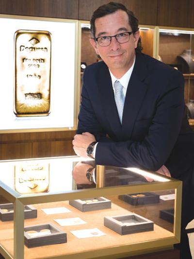 Tomás Epeldegui, director de Degussa Metales Preciosos en España.