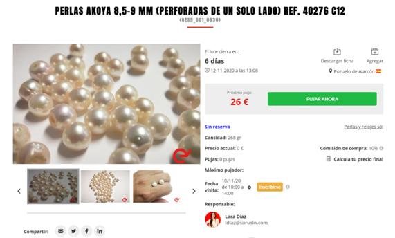 Segunda subasta para profesionales: perlas cultivadas sueltas y relojes Söl