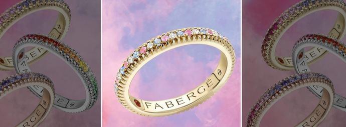 A Love in Color, de Fabergé, con zafiro, diamantes y oro