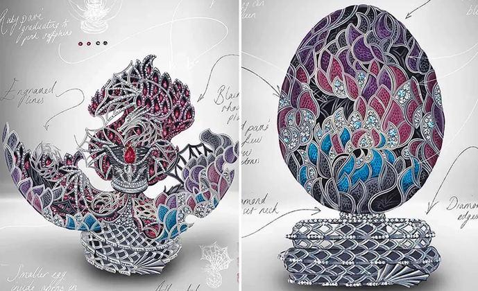 Fabergé diseña un huevo de dragón de 2,2 millones de dólares
